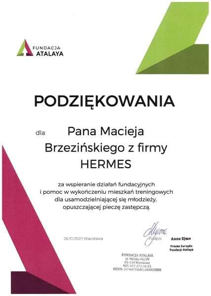 podziękowania dla Hermes